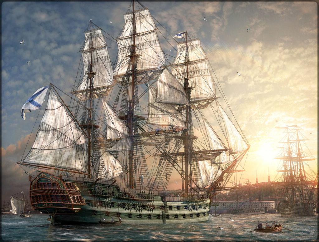 Ναυαρίνεια - Ρωσική ναυαρχίδα Azov