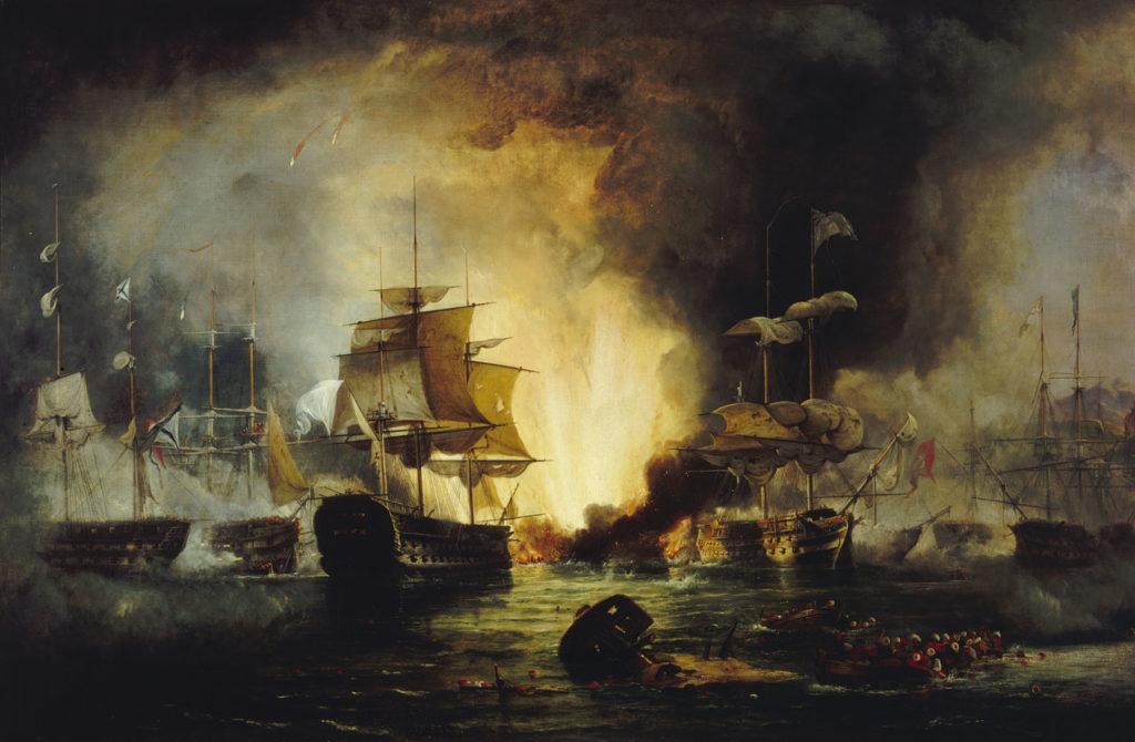 Ναυρίνεια - Ναυμαχία του Ναυαρίνου - Έργο του Reinagle, George Philip